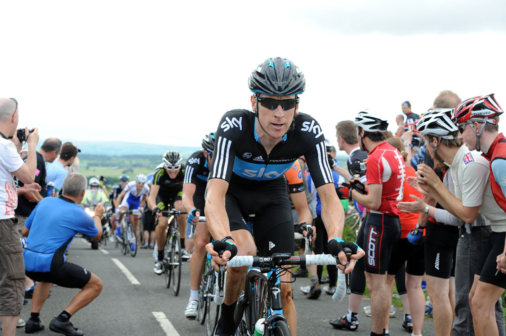 Bradley Wiggins on Ryals climb, British road race national championships 2011