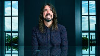 A portrait of Dave Grohl smiling