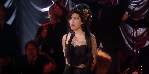 Amy Winehouse in the documentary Amy