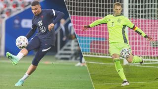 France vs Germany live stream Euro 2020 — Kylian Mbappe of France and Manuel Neuer of Germany