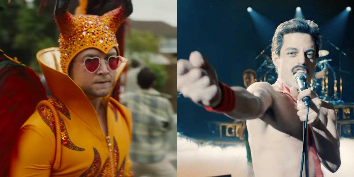 Bohemian Rhapsody and Rocketman real life actors