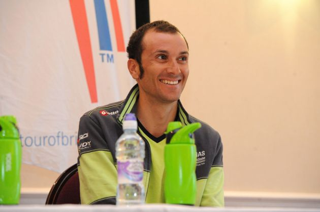 Ivan Basso press conference, Tour of Britain 2012