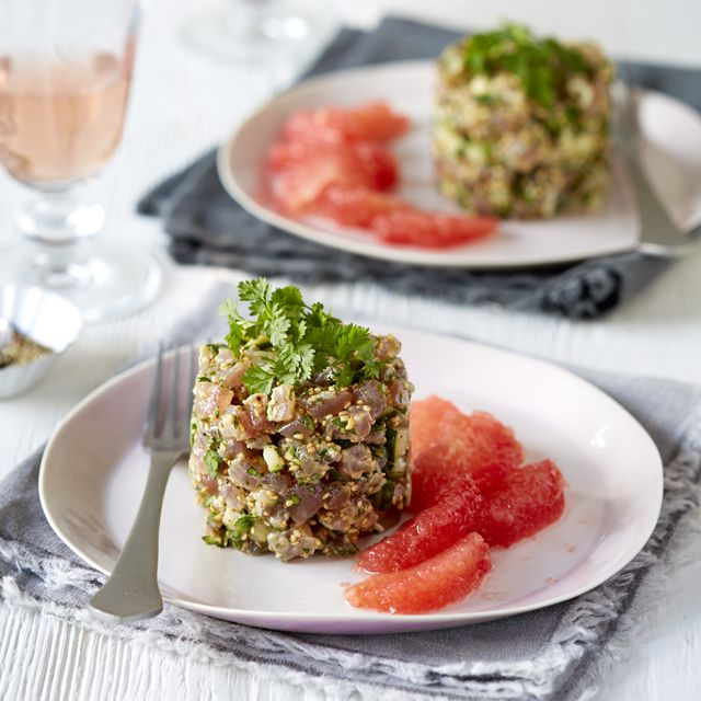 Tuna tartare with asian flavours