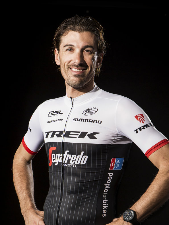 Fabian Cancellara in 2016 Trek Segafredo kit