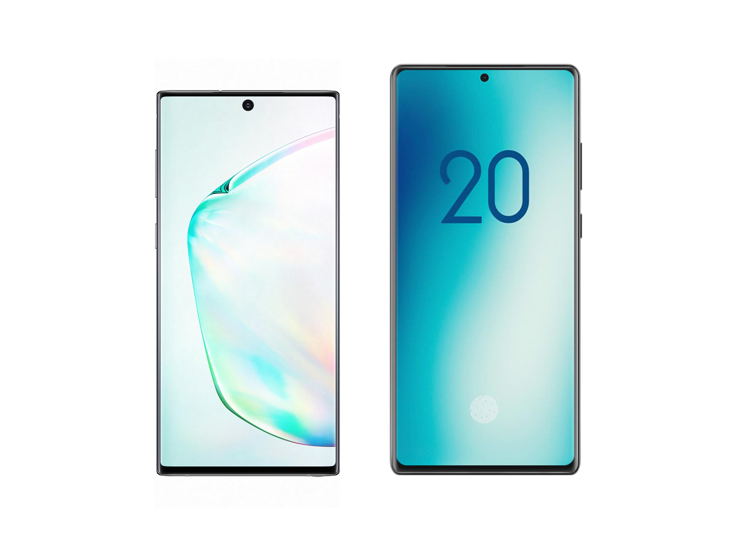 Samsung Galaxy Note 20 design render