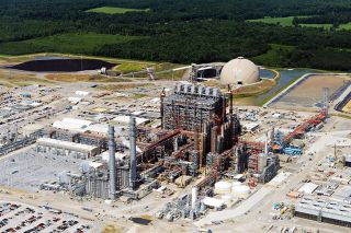An aerial View of Kemper County Energy Facility in Mississippi.