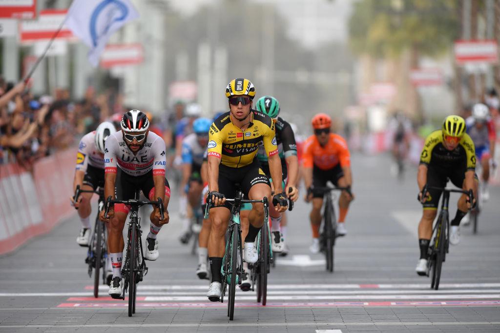 Dylan Groenewegen wins at the 2020 UAE Tour.