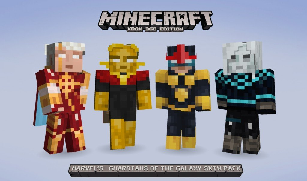 Minecraft Xbox 360 Receives Guardians Of The Galaxy Skin ...