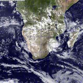 Tropical Depression Dando makes landfall over Mozambique.