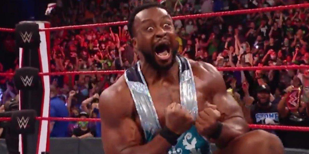 Big E Langston celebrating his first WWE Championship Title WWE