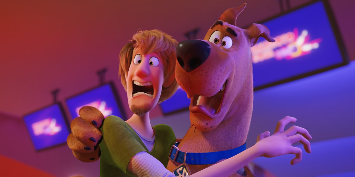 Shaggy and Scooby freaking out in Scoob!