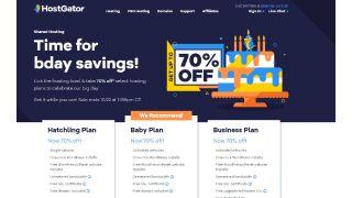 HostGator Birthday Sale Home Page