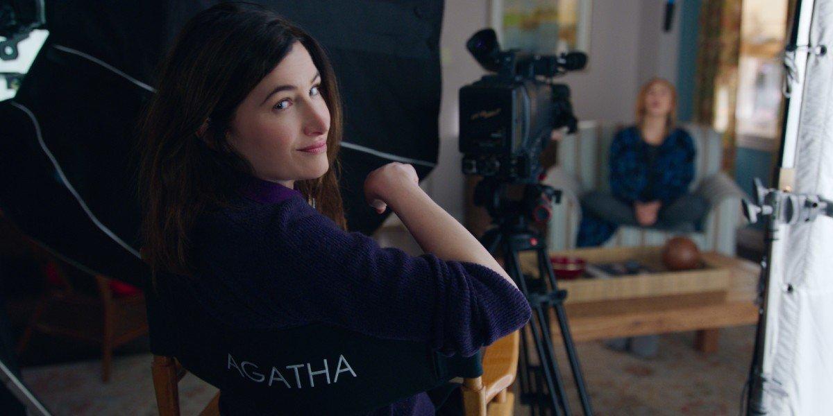 Agatha Harkness directing Wanda Maximoff's show on WandaVision (2021)