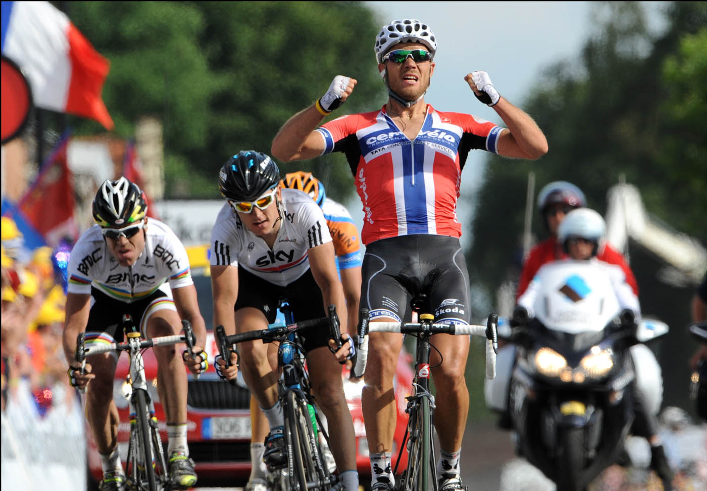 Thor Hushovd wins Tour de France 2010 stage 3