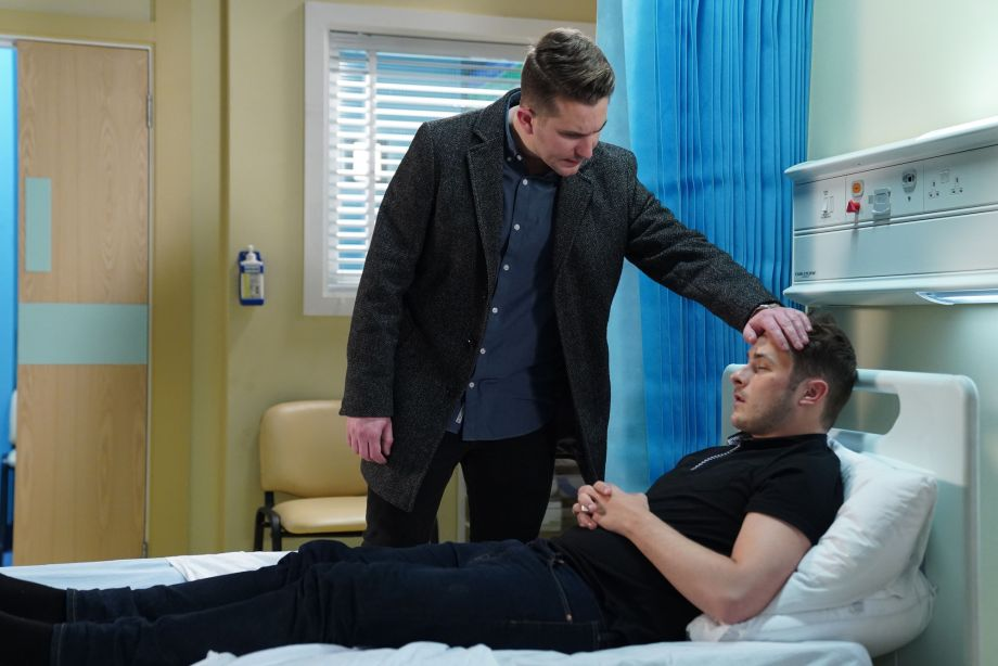Callum is concerned that Ben is unwell in EastEnders