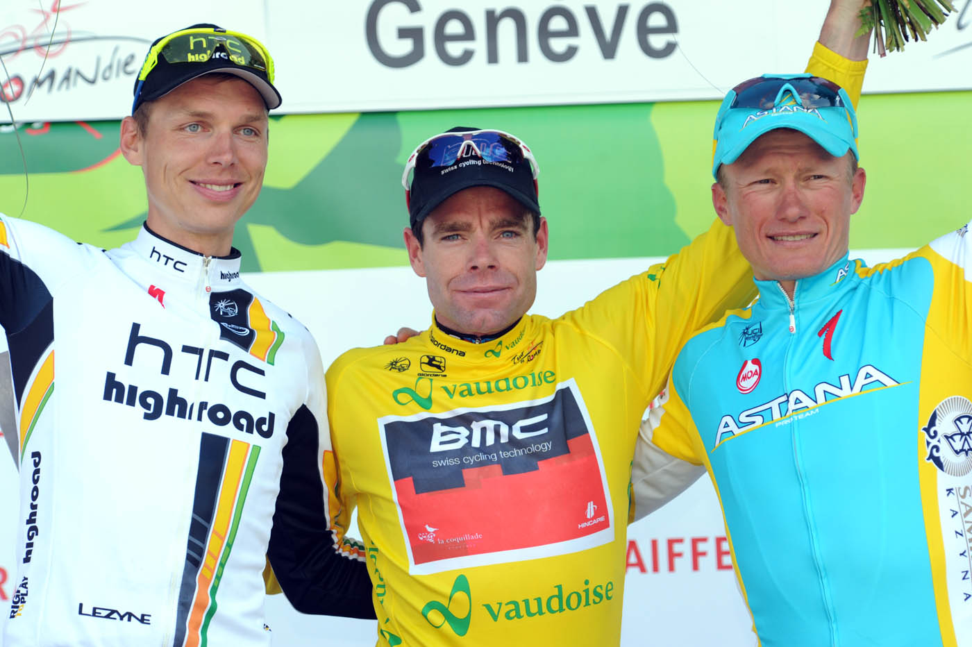 Cadel Evans, overall winner, Tour de Romandie 2011, stage five