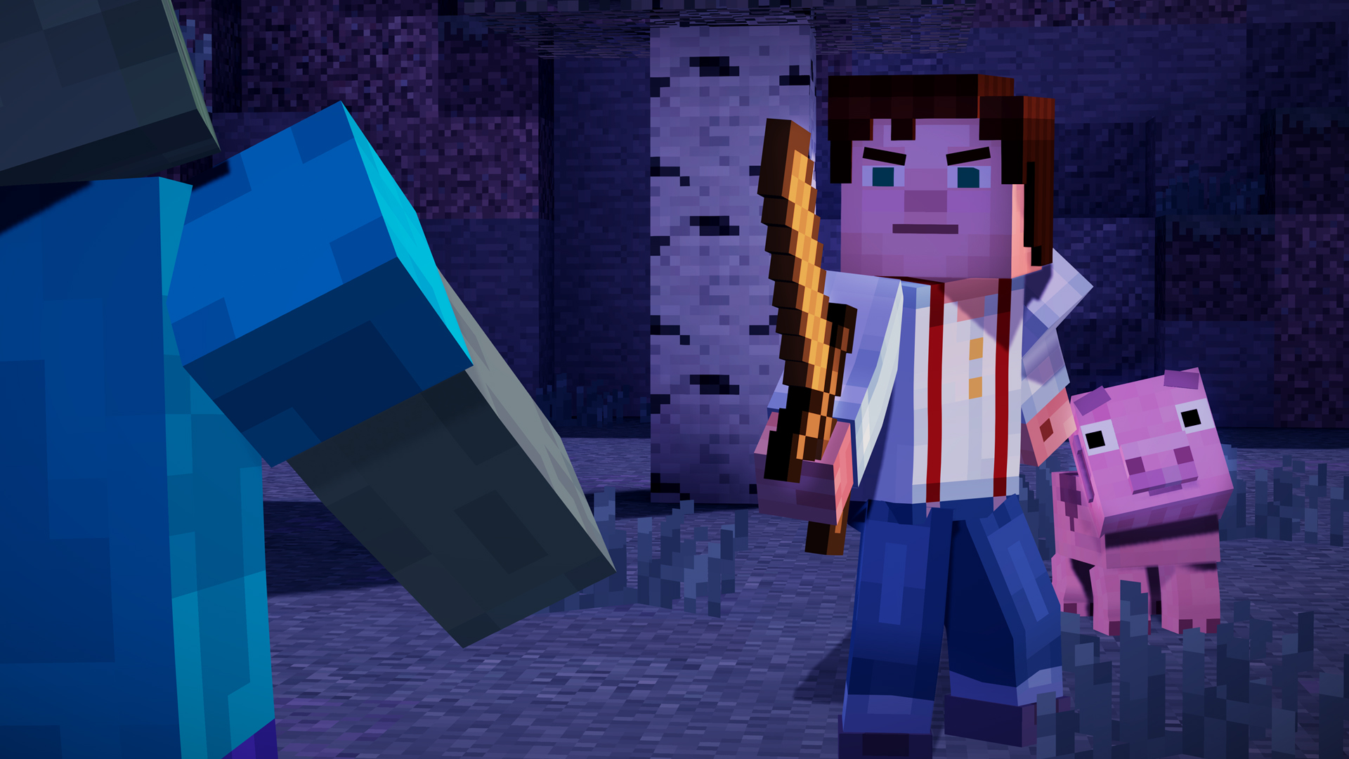 Minecraft Story Mode Episode 1 Review Go Behind The Bricks Tom S Guide