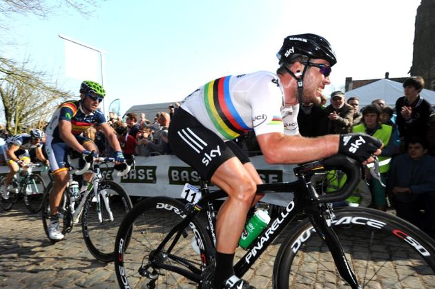 Mark Cavendish on the Kemmelberg, Ghent-Wevelgem 2012