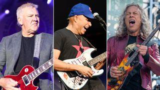 Alex Lifeson, Tom Morello and Kirk Hammett