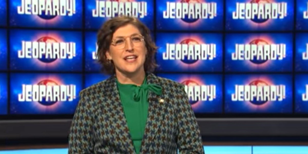 Mayim Bialik talking about being a guest host on Jeopardy!