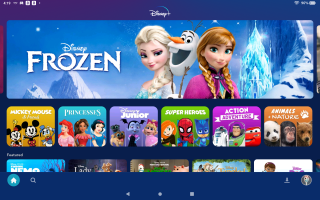 Disney Plus' colorful kid account interface