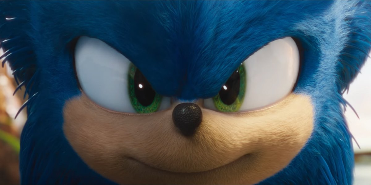 Sonic the Hedgehog taking his mark, ready to run