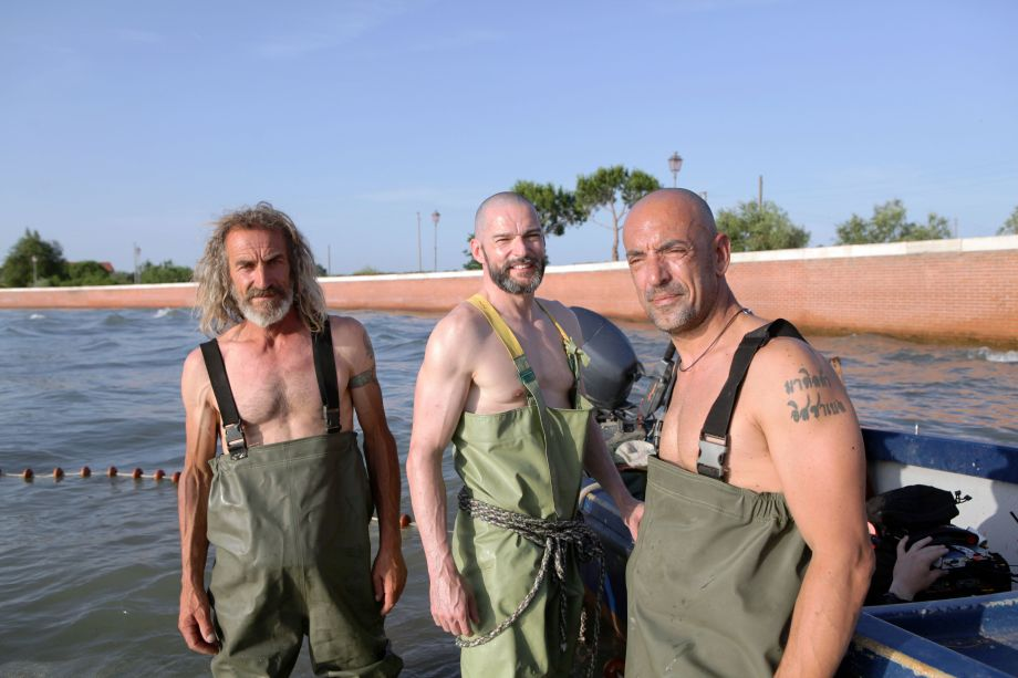 Fred Sirieix snd Venice fishermen in Remarkable Places to Eat