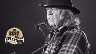 a shot of neil young live