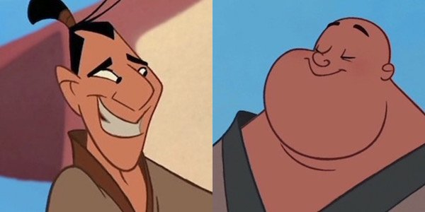Ling and Po in Mulan