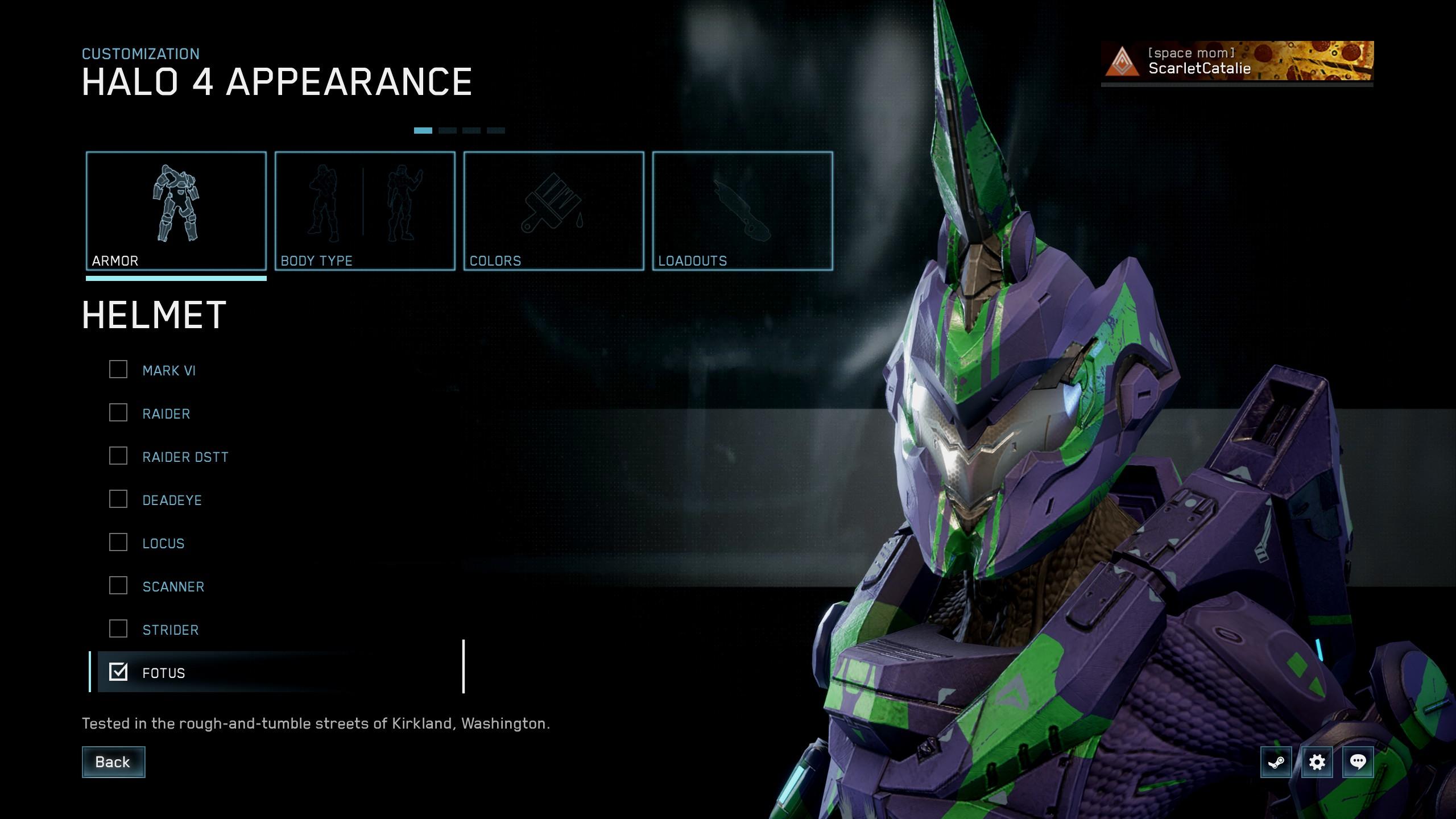Halo 4 customisation screen