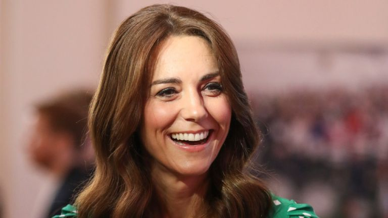 Kate middleton smiling with tonal beauty look