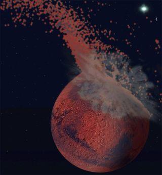 Huge Impact Created Mars' Split Personality