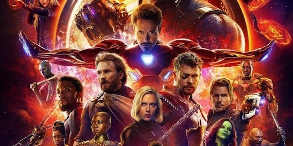 Part of the Infinity War poster
