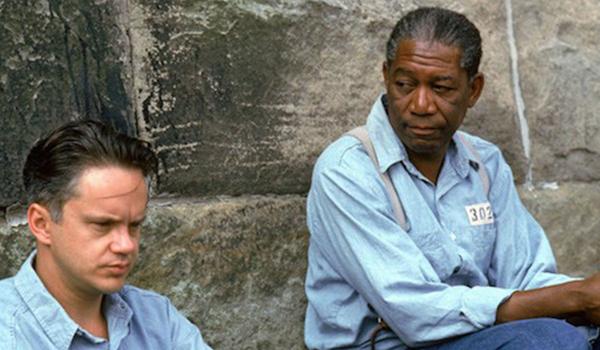 Tim Robbins and Morgan Freeman in Shawshank Redemption