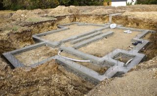 Foundations of a house