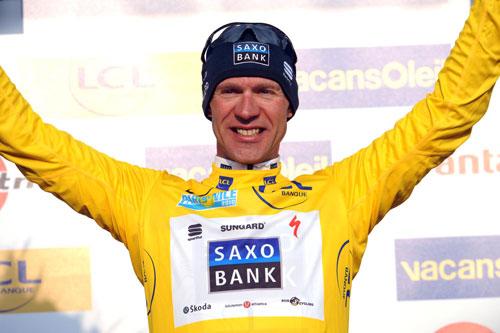 Jens Voigt leads, Paris-Nice 2010, stage three
