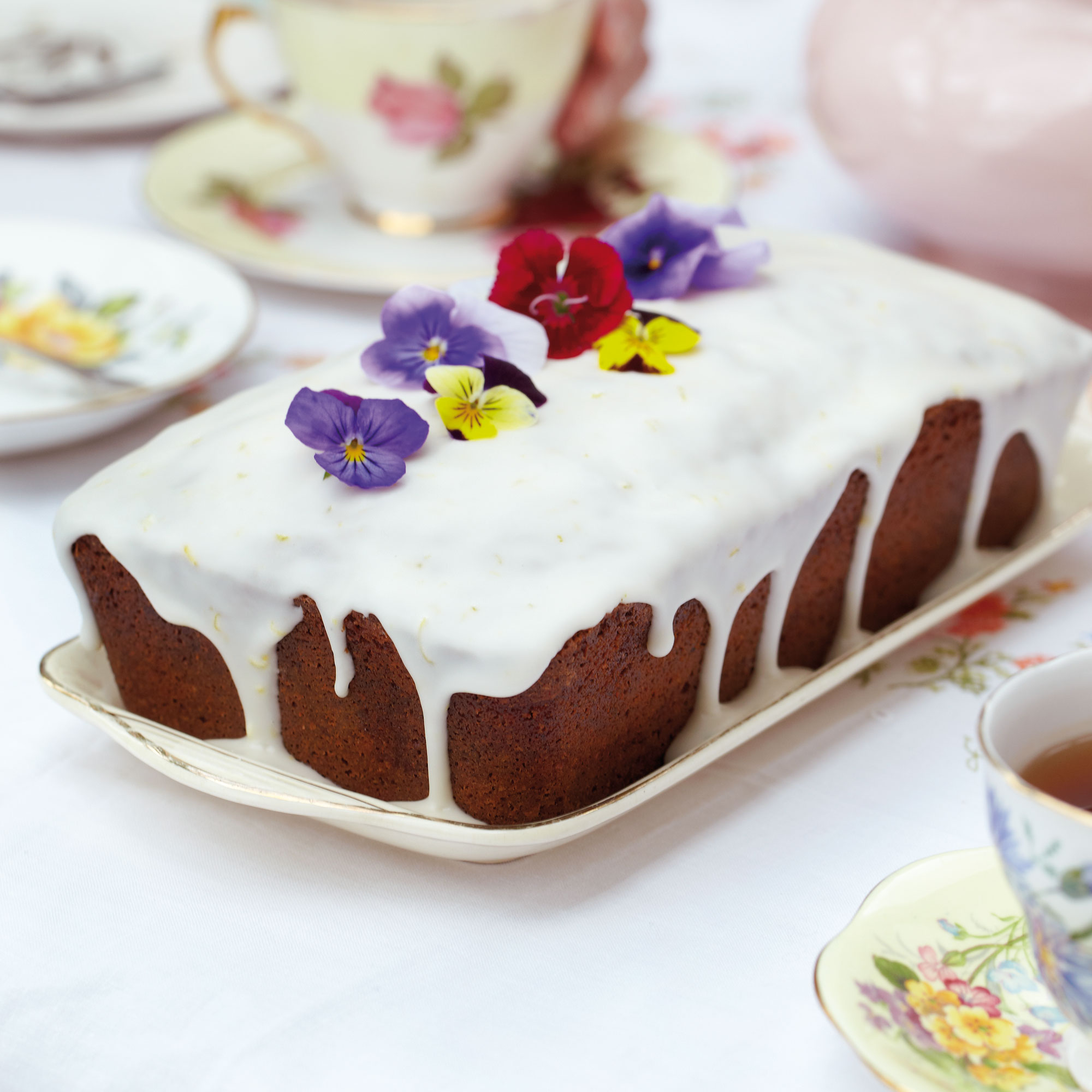 Earl Grey Tea Cake With Lemon Icing