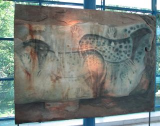 Pech Merle cave paintings of spotted horses