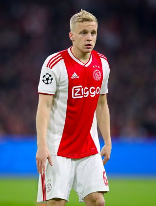 Donny van de Beek left Ajax to join Manchester United on Wednesday.