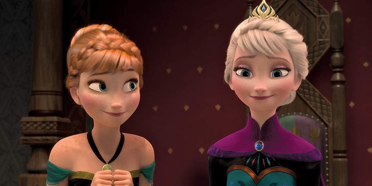 Kristen Bell as Anna and Idina Menzel as Elsa in Frozen