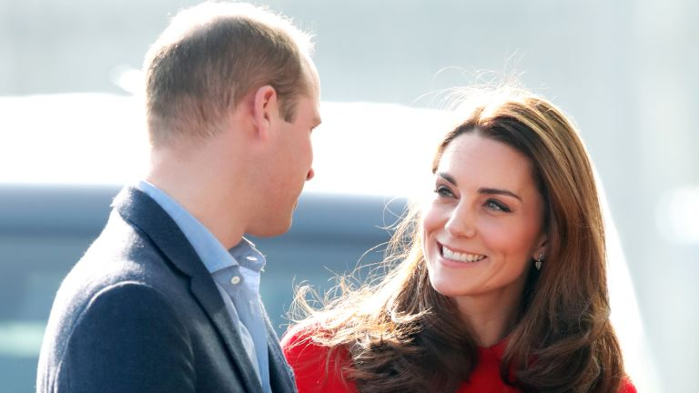 Prince William and Duchess of Cambridge talking