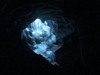 entrace to warren cave antarctica