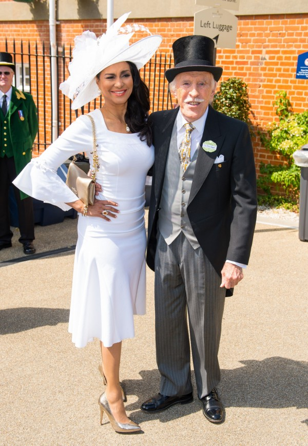 Sir Bruce Forsyth and his wife Wilnelia at the Royal Ascot Meeting earlier this year.