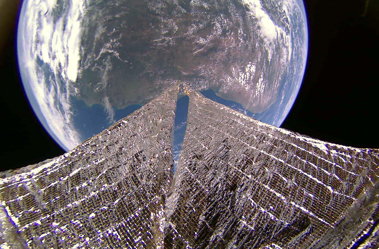 An image of the northeast coast of South America taken by LightSail 2 on Jan. 11, 2020.