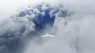 Hurricane Laura in Microsoft Flight Simulator