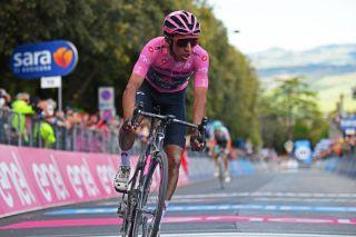 Egan Bernal (Ineos Grenadiers) finishes stage 11 of the 2021 Giro d'Italia