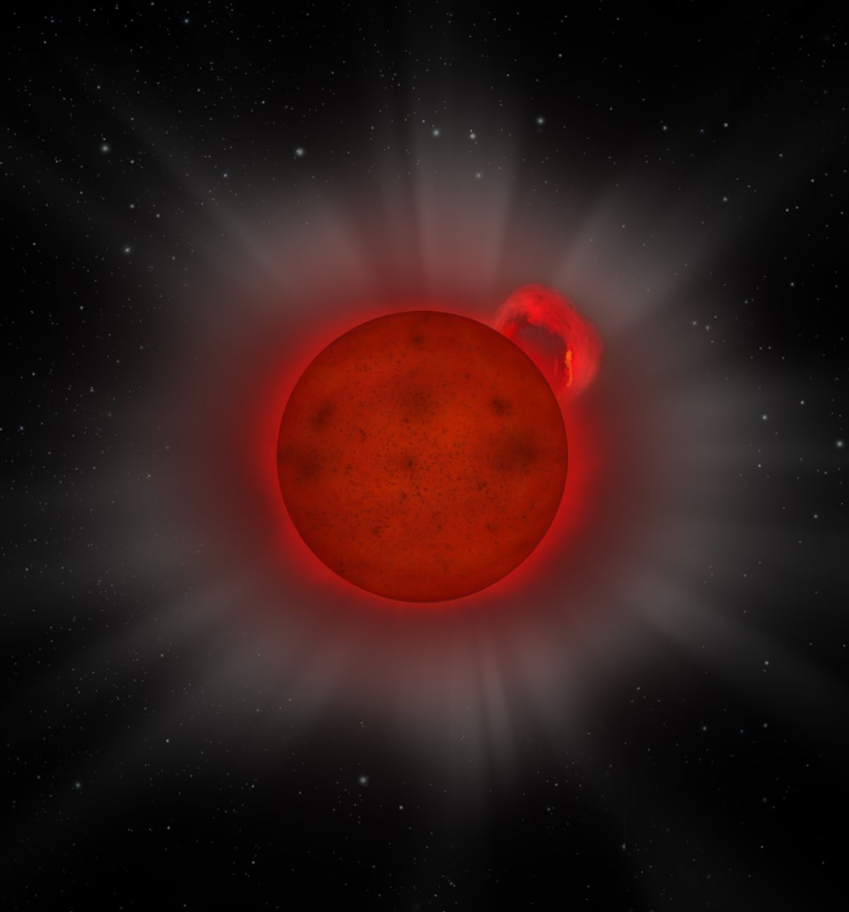 Tiny star's violent outburst catches astronomers' attention — years late