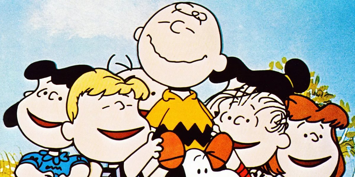 Charlie Brown and friends from Peanuts