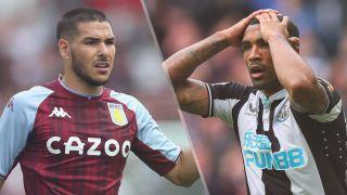 Aston Villa vs Newcastle United live stream Premier League — Emiliano Buendia of Aston Villa and Callum Wilson of Newcastle
