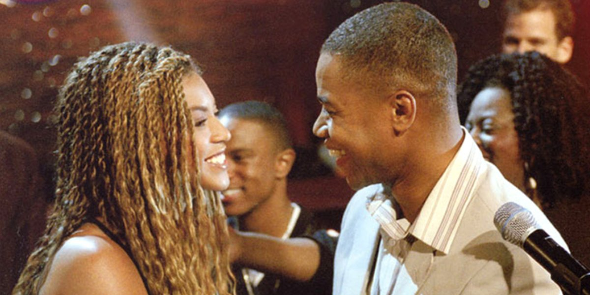 Beyoncé Knowles and Cuba Gooding Jr. in The Fighting Tempatations